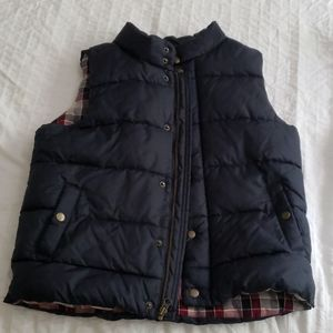 Boys JOE flannel lined puffer vest size 8 (medium)